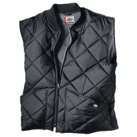 Dickies Quilted Nylon Vest-BLACK- TE242BK