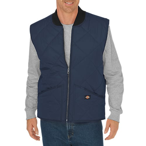 Dickies Quilted Nylon Vest- DARK NAVY TE242DN