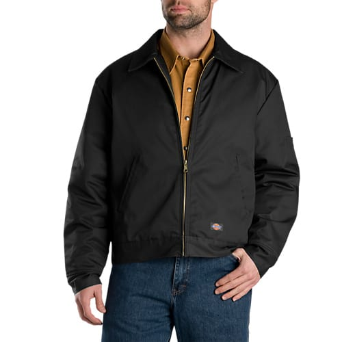 Dickies Lined Eisenhower Jacket- BLACK- TJ15BK