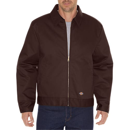 Dickies Lined Eisenhower Jacket- DARK BROWN- TJ15DB