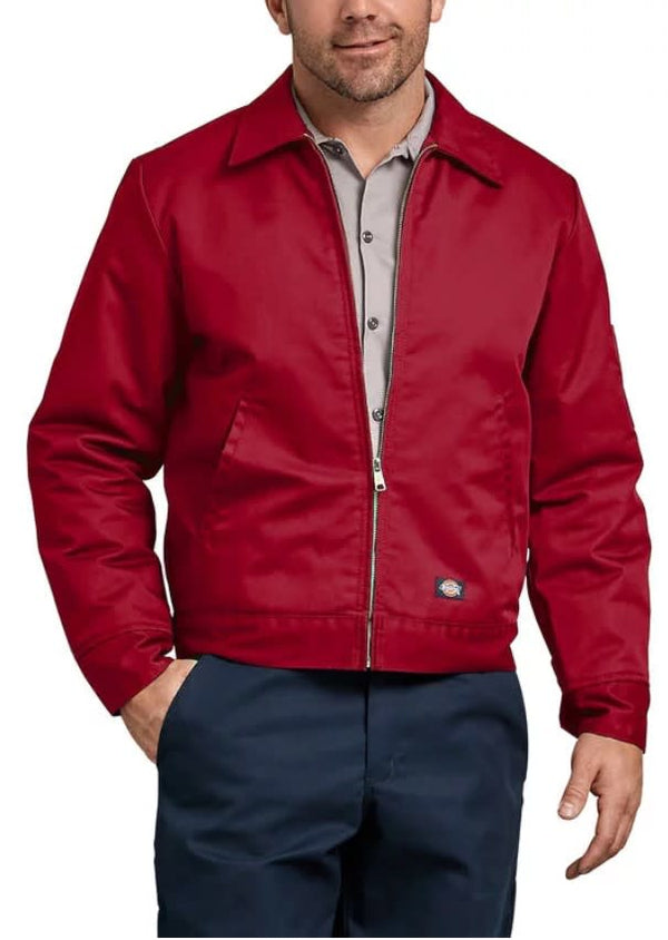 Dickies Lined Eisenhower Jacket- ENGLISH RED- TJ15ER