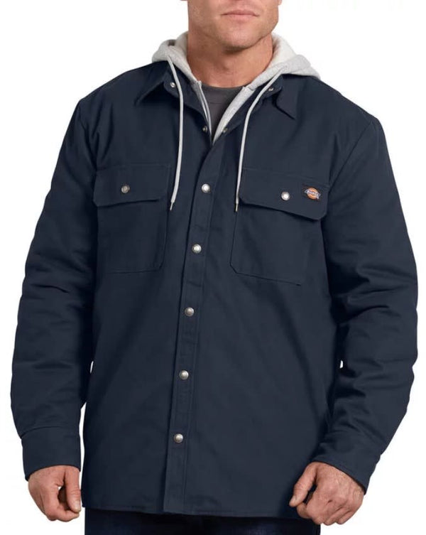 Dickies Hooded Duck Shirt Jacket- DARK NAVY- TJ203DN