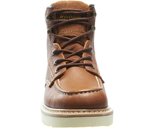 "WOLVERINE MOC-TOE 6"" WORK BOOT -W08288- Plain Toe"