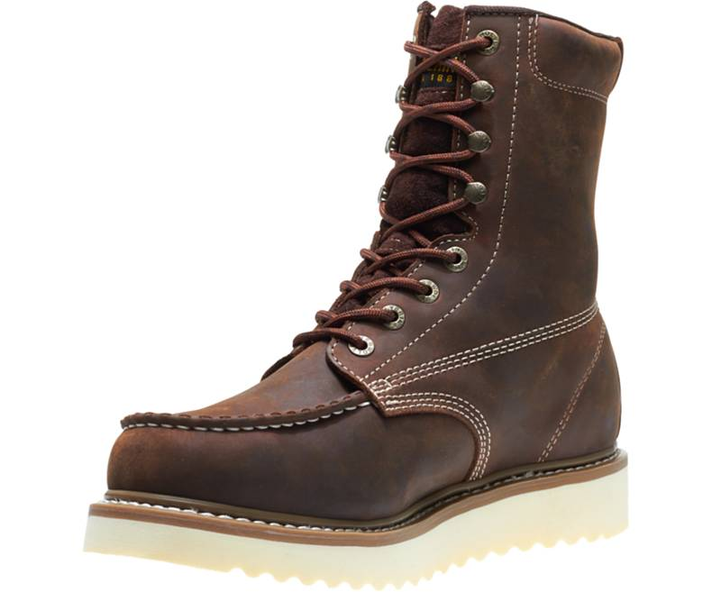 "NEW- WOLVERINE LOADER 8"" SOFT- TOE WEDGE BOOT- W10743"
