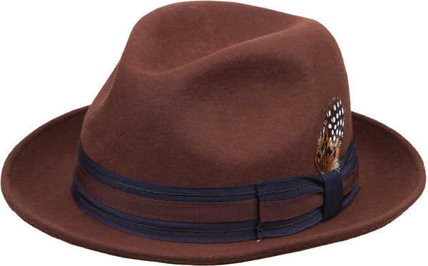 Wool Felt Fedora- Handmade with 100% Australian Wool- Brown