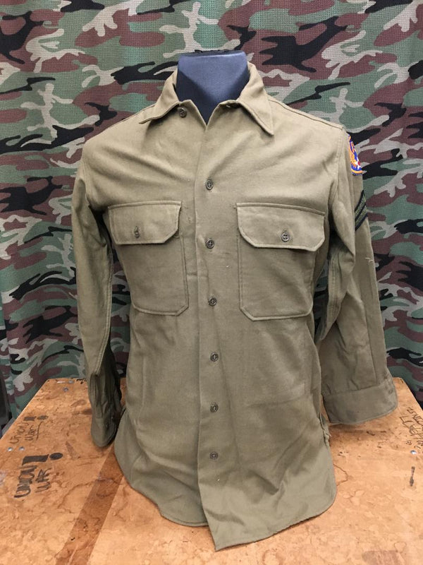 WWII Wool Army Shirt- 15/32 (Medium)