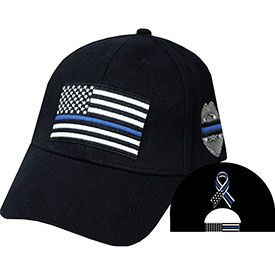 Police - Thin Blue Line- Embroidered Cap