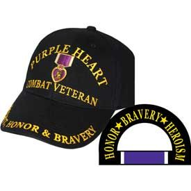 Purple Heart CIB- Embroidered Cap