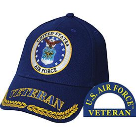 USAF Veteran Embroidered Cap