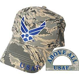 USAF Camo Logo Embroidered Cap