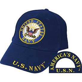 US Navy Logo Embroidered Cap