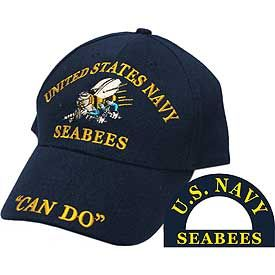 US Navy Seabees Logo Embroidered Cap