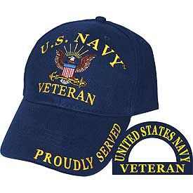 US Navy Veteran Logo Embroidered Cap