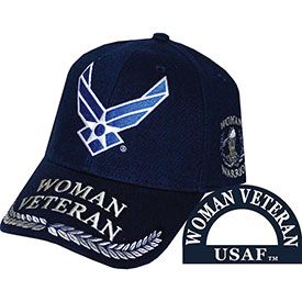 USAF Woman Veteran Embroidered Cap