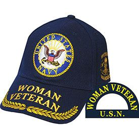 US Navy Woman Veteran Logo Embroidered Cap