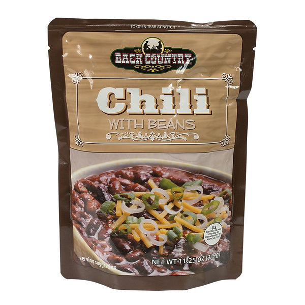 BACK COUNTRY CHILI W/BEANS - (11.25 OZ)  3 YEAR SHELF LIFE