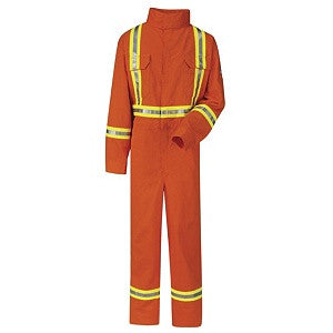 Premium Coverall with CSA Compliant Reflective Trim- EXCEL FR COMFORTOUCH