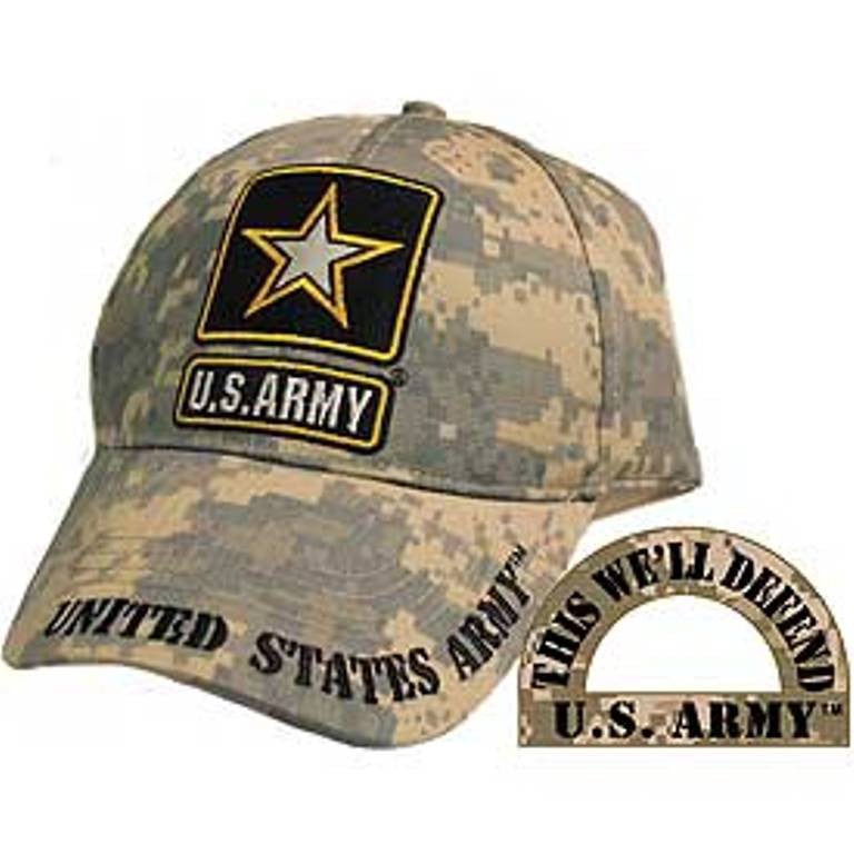 Army Logo Camo Embroidered Cap