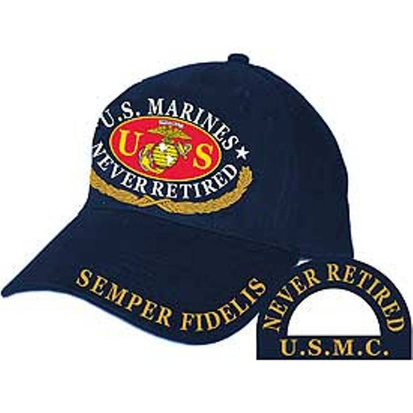 USMC Never Retired Embroidered Cap