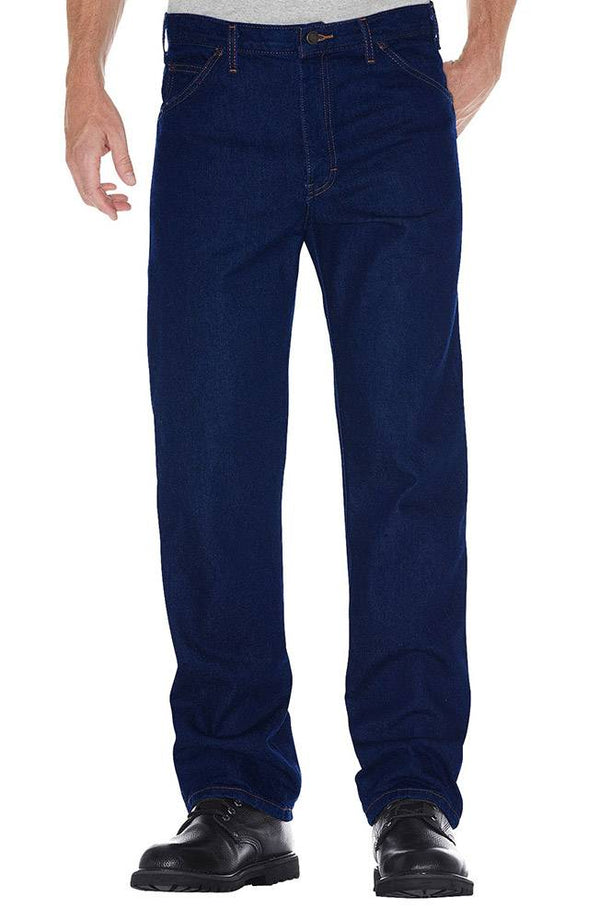 Dickies Regular Straight Fit 5-Pocket Denim Jeans- RINSED INDIGO- 9393RNB
