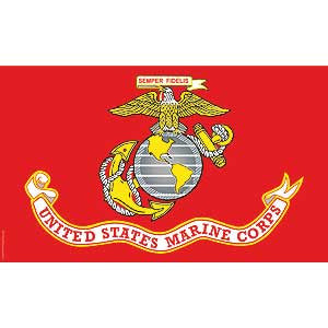 United States Marine Corps Flag- 3' x 5' MADE IN THE USA