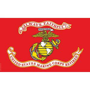 United States Marine Corps Retired Flag-3' x 5'