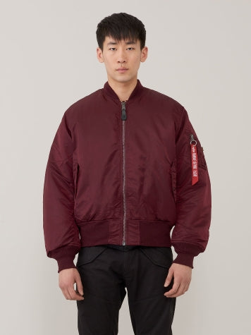 Alpha MA1 Flight Jacket- Maroon-  This Classic never goes out of style!