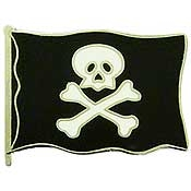 Pirate Flag Skull and Bones Pin