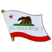 California Flag Pin -FREE SHIPPING