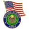U.S. Army Logo w/ USA Flag Pin
