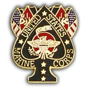 U.S. Marine Corps Spade and Flag Pin
