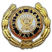 U.S. Navy Logo Wreath Pin