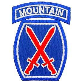 Army- 10th Mountain Division -FREE SHIPPING