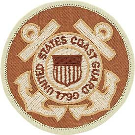 "Coast Guard Logo Patch - 3"" Desert -FREE SHIPPING"