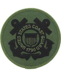 "Coast Guard Logo Patch - 3"" Subdued -FREE SHIPPING"