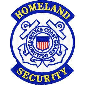 "Coast Guard Logo Patch - 3"" Homeland Security -FREE SHIPPING"