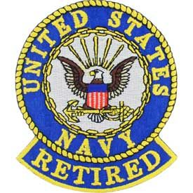"Navy Logo Patch - 3"" Retired- FREE SHIPPING"