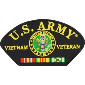 Vietnam- Army Veteran Hat Patch