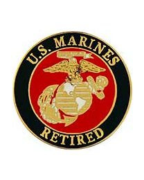 USMC LOGO,RETIRED- 1""