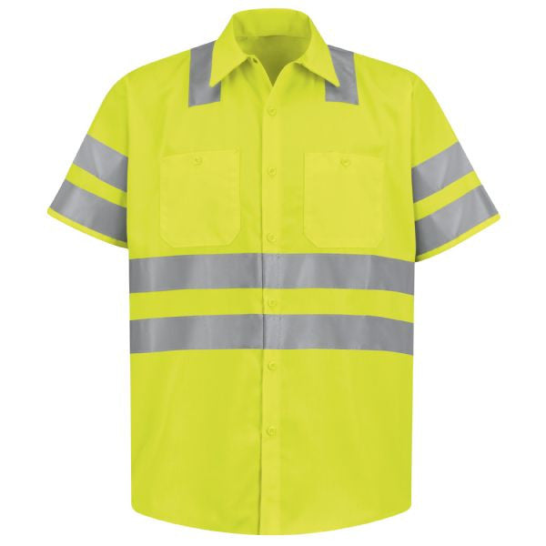 Red Kap Short Sleeve Hi-Visibility Work Shirt: Class 3 Level 2 - SS24