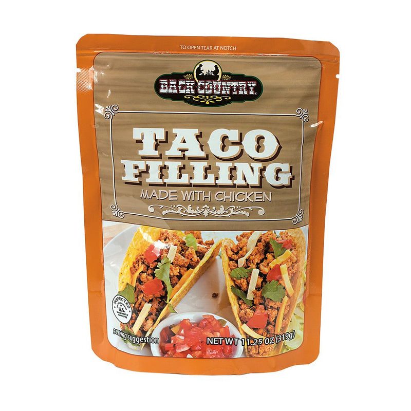 BACK COUNTRY TACO FILLING - (11.25 OZ) 3 YEAR SHELF LIFE