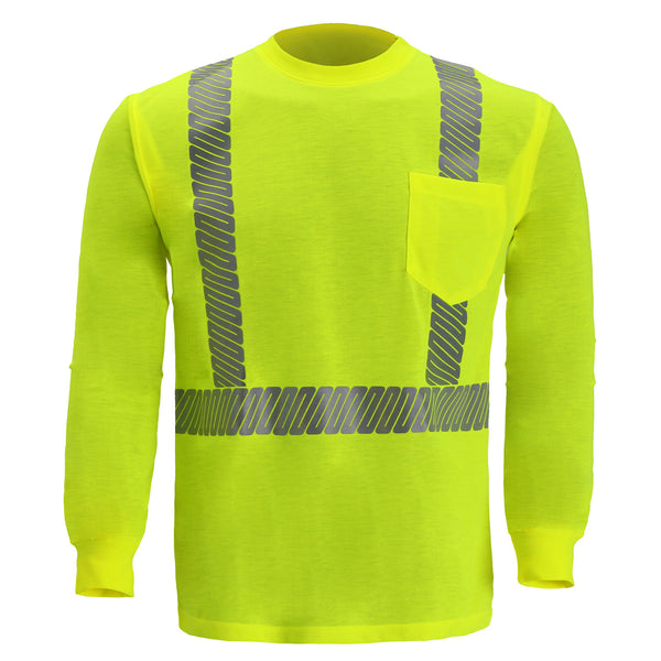 CLASS 2 LONG SLEEVE JERSEY T SHIRT- LIME