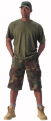 Ultra Force Woodland Long BDU Shorts