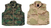 Vintage Ranger Vest....Woodland Camo or Tri-Color Camo