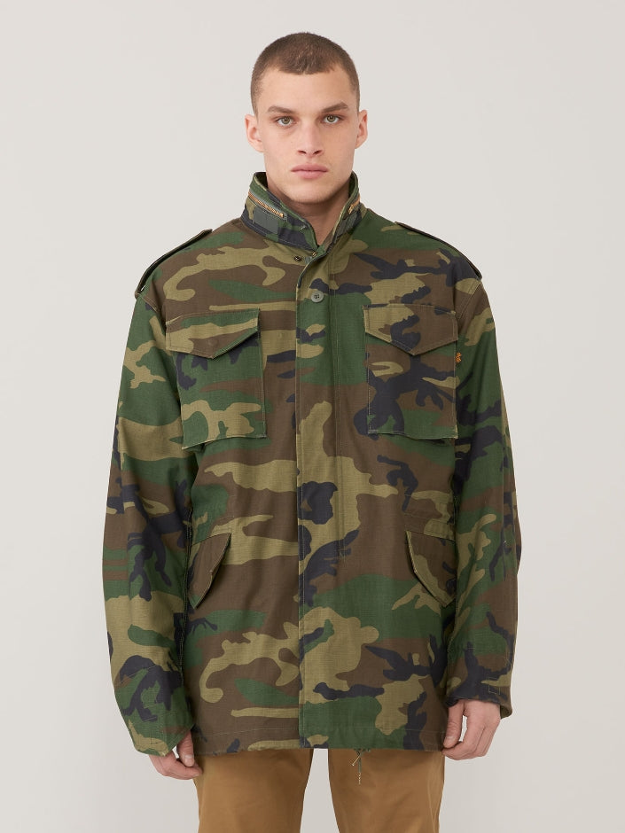 Alpha M65 Field Jacket-Woodland Camo- Manufactured to military specifications!  A Classic!