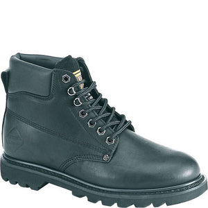 "Work Zone 6"" Oil Full Grain Leather Work Boot-Plain or Steel Toe"