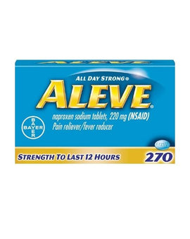 Aleve Tablets Naproxen Sodium Capsules 220 mg 270 Count