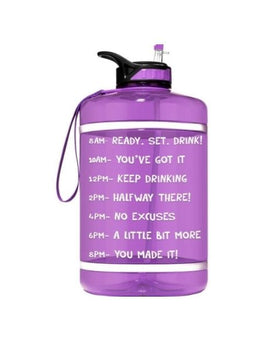 Motivational Gallon Straw Water Bottle (Purple)