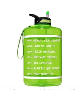 Motivational Gallon Straw Water Bottle (Neon Green)