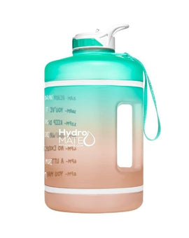 Motivational Gallon Straw Water Bottle (Mint Rose Gold)